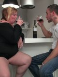 She promises him a great screw and he leaves his girlfriend to have a crack at her BBW pussy