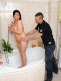 He comes in on her as she takes a shower and he finds her BBW body utterly irresistible