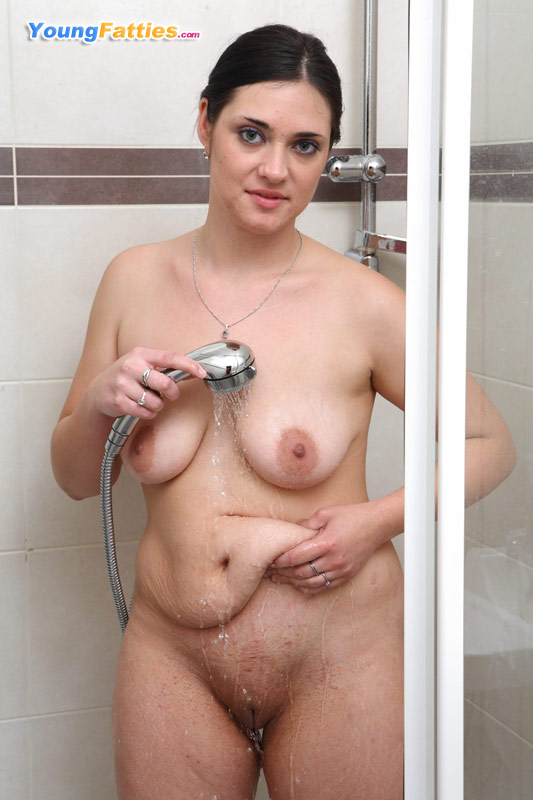 Teen Rides Dildo Shower